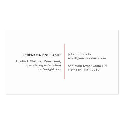 Hummingbird Logo Natural Health Care, Naturopath Business Card Template (back side)