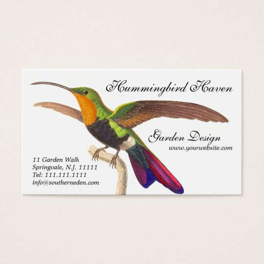 Hummingbird Lover's Business Card - Colorful