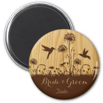 Hummingbird lovers save the date magnet