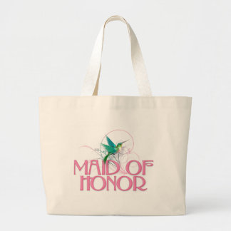 Hummingbird Maid of Honor Jumbo Tote Bag
