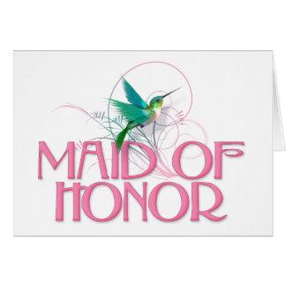 Hummingbird Maid of Honor Greeting Card
