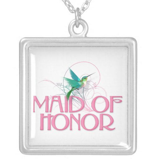 Hummingbird Maid of Honor Necklace