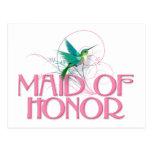 Hummingbird Maid of Honor Postcard