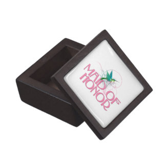 Hummingbird Maid of Honor Premium Trinket Box