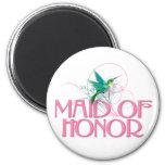 Hummingbird Maid of Honor Refrigerator Magnets