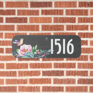 Hummingbird Make Your Own Personalized House Metal Sign