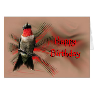 Hummingbird Male- graphic bkgr-customize Card