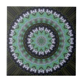 Hummingbird Mandala Ceramic Tile