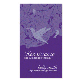 Hummingbird Massage Therapist Business Cards