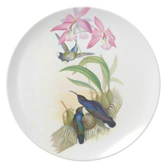 Hummingbird Melamine Plate