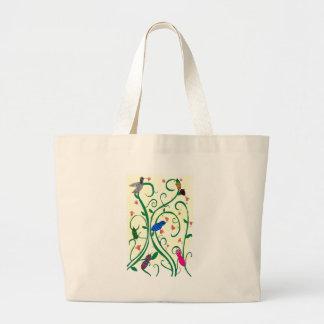 Hummingbird Mingle Digital Painting Canvas Bag
