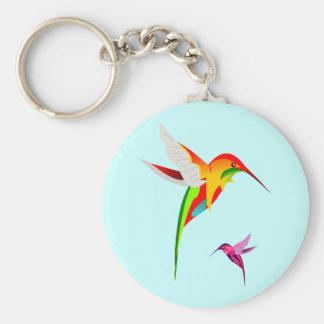Hummingbird Mom and Baby Key Chain