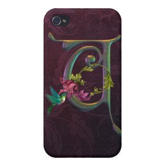 Hummingbird Momogram U iPhone 4 Cases