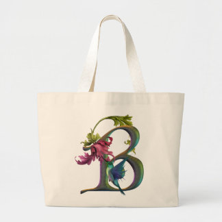 Hummingbird Monogram B Jumbo Tote Bag