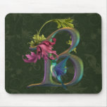 Hummingbird Monogram B Mouse Pad
