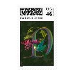 Hummingbird Monogram D Postage Stamp