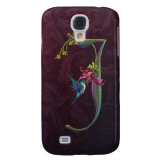 Hummingbird Monogram J Samsung S4 Case
