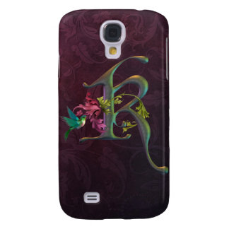 Hummingbird Monogram K Samsung Galaxy S4 Cover