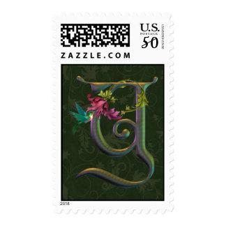 Hummingbird Monogram Y Postage