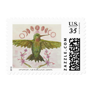 Hummingbird Moon Phase Stamps