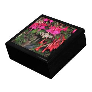 Hummingbird Moth & Fuchsia Flowers Gift Box