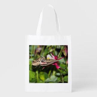 Hummingbird Moth Reusable Bag Market Tote