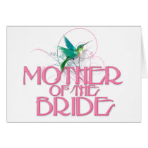 Hummingbird Mother of the Bride Card
