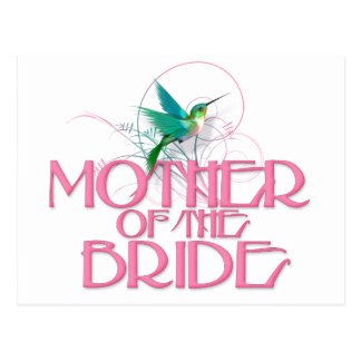 Hummingbird Mother of the Bride Postcard