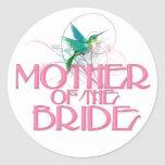 Hummingbird Mother of the Bride Stickers
