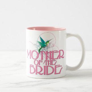 Hummingbird Mother of the Bride Two-Tone Coffee Mug