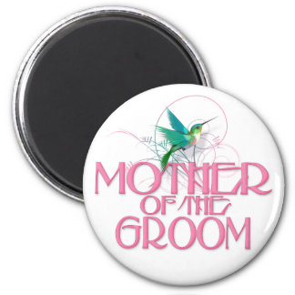Hummingbird Mother of the Groom 2 Inch Round Magnet