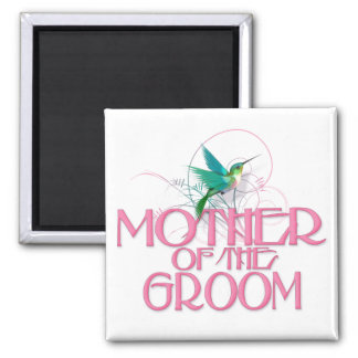 Hummingbird Mother of the Groom 2 Inch Square Magnet