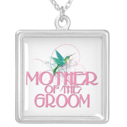 Hummingbird Mother of the Groom Necklace