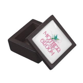 Hummingbird Mother of the Groom Premium Trinket Boxes