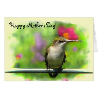 Hummingbird Mother's Day Card