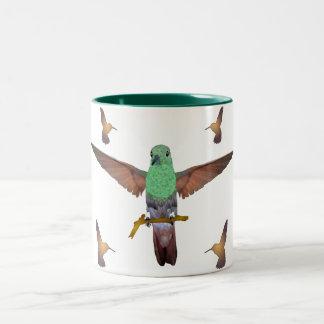 Hummingbird Two-Tone Coffee Mug