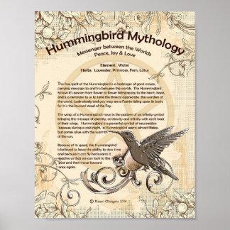HUMMINGBIRD MYTHOLOGY POSTER