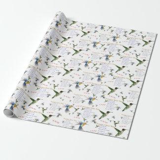 Hummingbird Nectar Recipe Gift Wrap