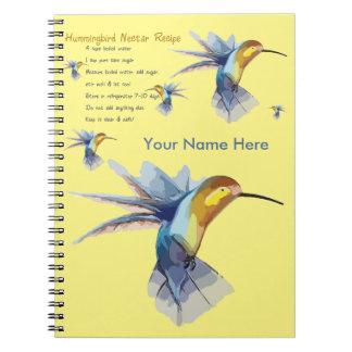 Hummingbird Nectar Recipe Notebook