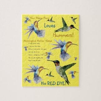 Hummingbird Nectar Recipe Puzzle