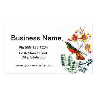 Hummingbird no. 9 housewarming gift business card templates