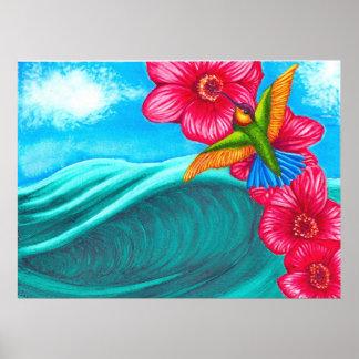 Hummingbird Ocean Posters