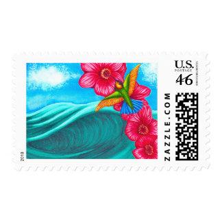 Hummingbird Ocean Stamp