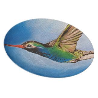 Hummingbird Oil Painting Plate