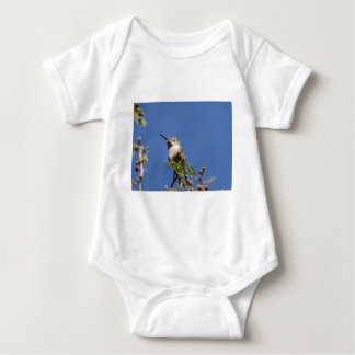 Hummingbird on Branch by SnapDaddy Baby Bodysuit
