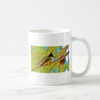 Hummingbird on evergreen classic white coffee mug