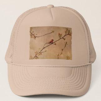 Hummingbird on Flowering Cherry Tree Trucker Hat