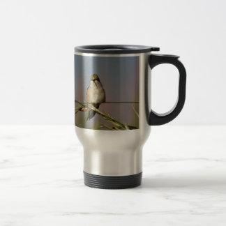 hummingbird on grass 15 oz stainless steel travel mug