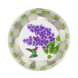 Hummingbird on Lilac Flowers Gum Party Favors