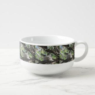 Hummingbird on Nest Soup Mug